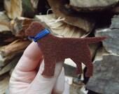 Chocolate Labrador Brooch, Chocolate labrador Jewellery, Labrador pin, Labrador badge, dog brooch, dog pin, Gift for Labrador owner