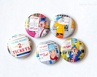 How Tall Magnets - Carnival Magnets - Fair Magnets - Refrigerator Magnets - Kitchen Art - Locker Accessories