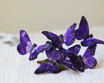Purple Butterfly Barrette