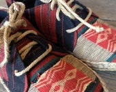 Shoes for casual days , Tribal  fabric , NAGA  Tribal
