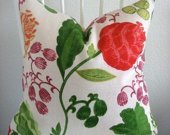 Wendell Primary bright large floral 20x20 decorative pillow cover