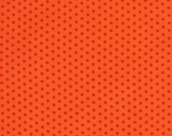 Spot On Tangerine Mini Orange Dots - Robert Kaufman Fabrics
