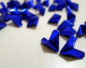 50 Frozen Love - Sapphire Blue Origami Lucky Hearts - custom order available