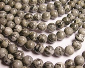 Picasso Jasper - 8mm round  -  48 beads - full strand strand - AA quality - RFG337