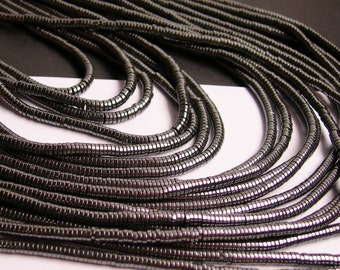 Hematite - 3mm x 1mm  heishi beads - full strand - 400 beads - A quality - CHG8
