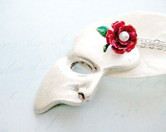 Mask Necklace, Phantom Of The Opera Necklace, Mask Jewelry Pendant Necklace