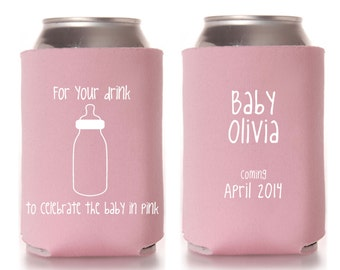 baby shower koozie favors baby girl shower favors coed baby shower