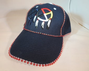Beaded Medicine Wheel Hat