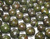 Bombona Beads, Pambil Beads, Army Green Brown Marble Beads, Organic Beads, Natural Beads, Vegetable Ivory Beads, EcoBeads