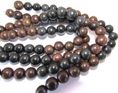 25 Black and Brown Tagua Nut Beads, 11mm Round Beads, Organic Beads, Vegetable Ivory Beads, Natural Beads, EcoBeads