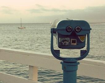 Beach Photography - Automatic Focus - ocean, beach, blue, sail boat, sea, cobalt, pier, wharf