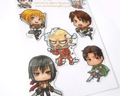 Attack on Titan magnet set of 5