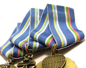Steampunk Medal // Steampunk Supply // Cosplay Medals -Ribbon ONLY-