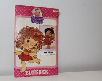 1984 Butterick Hugga Bunch Doll Pattern, Tweaker and Her Huglet Jitterbug