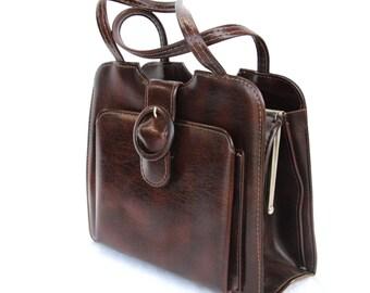 Mocha, French Vintage, Brown Handbag, 1950s Handbag from Paris
