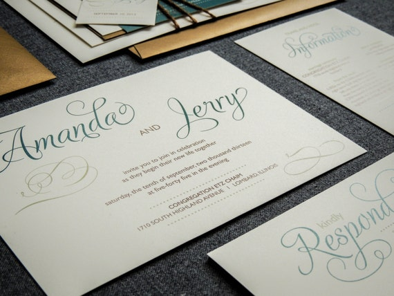 Rustic Wedding Invitations Fall Wedding By JulieHananDesign