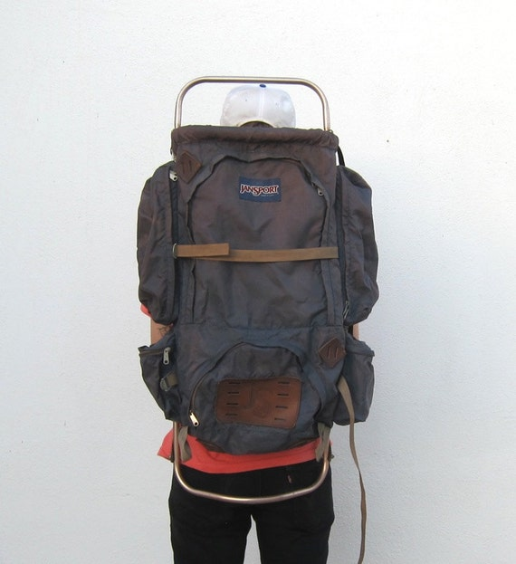 Vintage Giant Jansport Metal Frame Camping Backpack