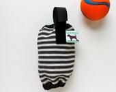 Dog Waste Bag Holder Leash Bag - Black & White Stripes