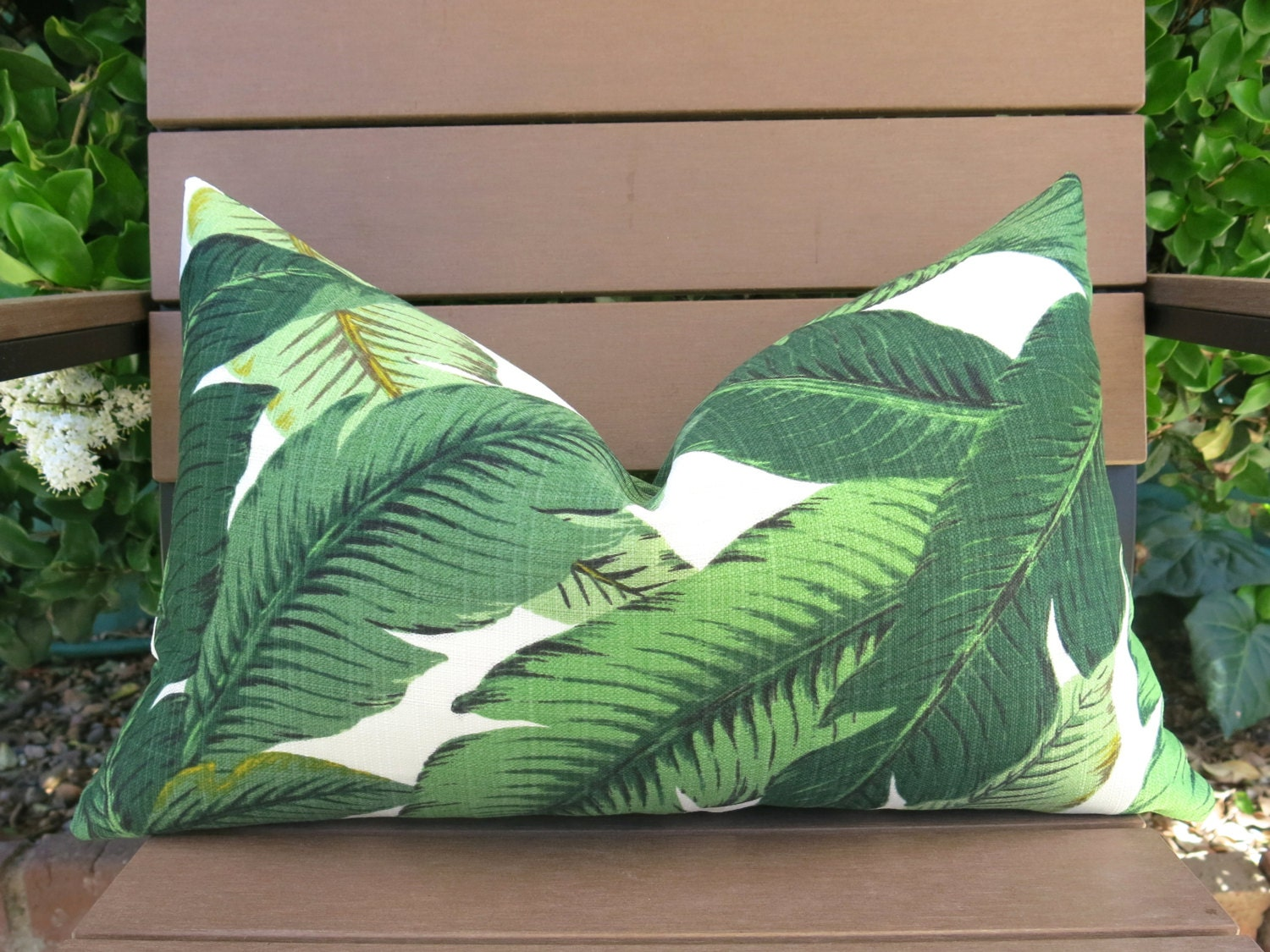 Decorative Pillow Palm Tree : Palm Leaf Decorative Pillow Cover Palm Tree Pillow Green
