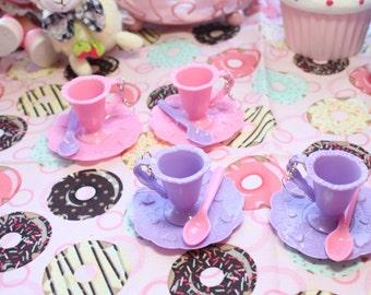 Fairy Kei Tea Cup Dangle Earrings Pick A Pair