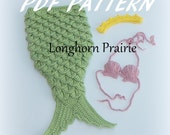 Croc Stitch Mermaid Costume crochet PATTERN pdf (instant download)