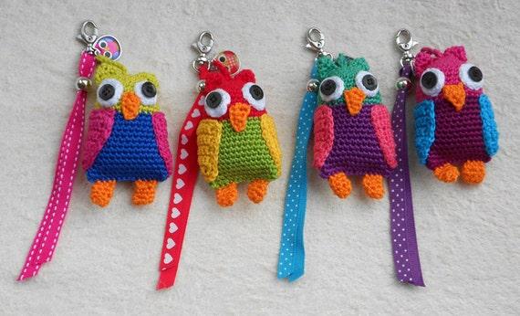 Patrón de crochet llavero Cigüeña Bóhu o Caballitos por wolgeit