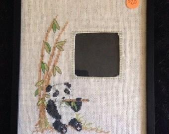 Panda photo frame cross stitch