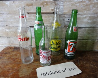 Vintage Glass Soda Bottles 1960's-70's 1 of 5