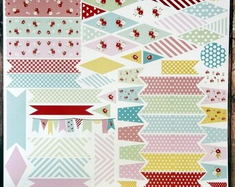 72 vinyl stickers  for scrapbooking ,cards and cake banner and cupcake bunting