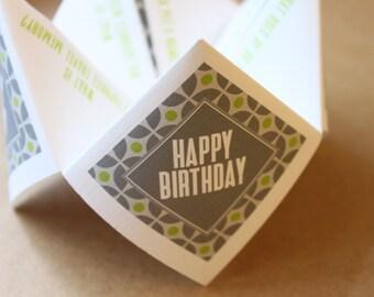 Birthday Party Cootie Catcher (PDF - PRINTABLE)