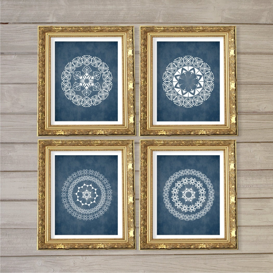 Geometric Circle Mandala Medallion Pattern Printable Wall Art