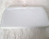 "Vintage 1960's White Handbag by ""Theodor"" of California w/ Tuck-away Handle"
