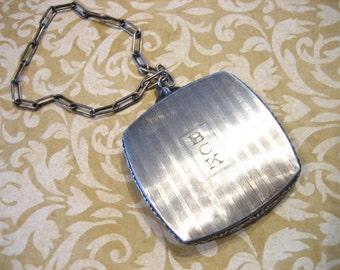 Art Deco Silver Compact Purse Monogram