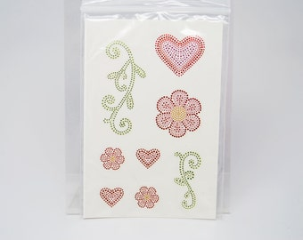 SALE DESTASH Close To My Heart Stickers -- Textured Stickers Heart Flower