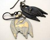 SWAN LAKE white swan black swan earring ballet jewelry Odile and Odette dangle earring dance jewelry  Tchaikovsky