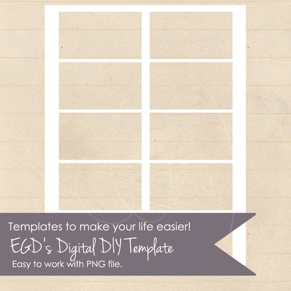 DIY Business Card Blank Printable Template By