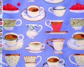SALE : Martha Negley Teacups purple Rowan Fabrics FQ or more