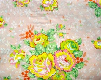 SALE : Rose Bouquet peach Heather Bailey Pop Garden Free Spirit Fabrics BTY