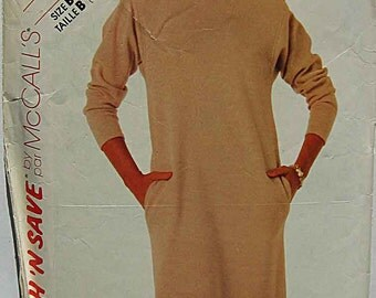 Misses' Pullover Dress Stitch 'n Save McCall's 2171 Sewing Pattern Sizes 12, 14, 16