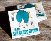 Sea Glass Stoop Refrigerator Magnet