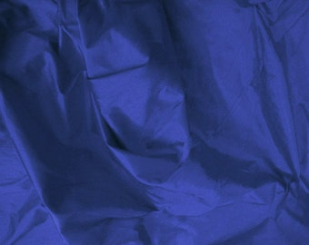 dupioni silk fabric - dark blue fat quarter - sld041