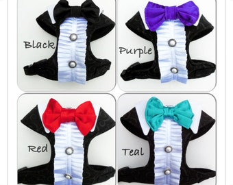 Tuxedo Comfort Soft Dog Harness - Made to Order -