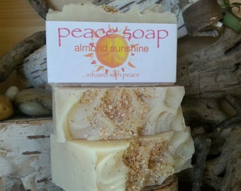 almond sunshine peace soap