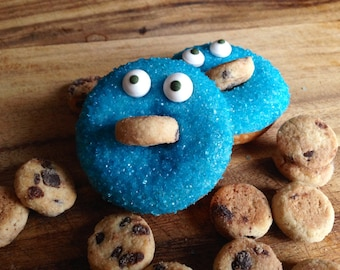 Cookie Monster Mini Donuts