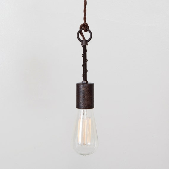 Industrial Spring Pendant Light Bare Bulb Trouble By