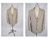 HARRIS TWEED vintage blazer suit jacket sports coat tweed 1960s mod indie professor 40
