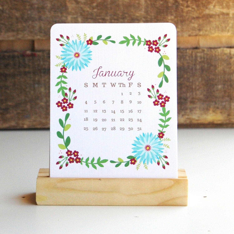 Unique Desk Calendar Ideas : Desk calendar floral by ktfdesign on etsy