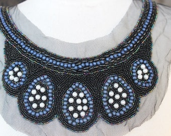 Cute  beaded and   embroidered  applique    1 pieces listing