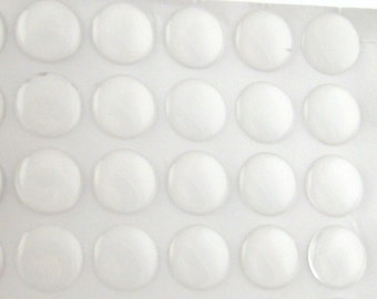 20pcs 1 Inch Epoxy Resin Dome Stickers - Clear Resin Circle Round Adhesive Sealant 26mm - Wholesale Cabochon Domes - Bulk Lot Resin Seal C57