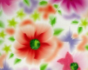 Art on Silk Fun Flower and Butterfly Art Print, 40 percent off